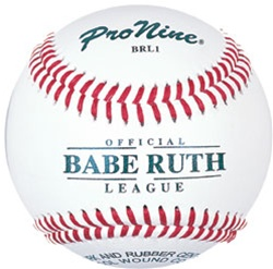 Pro Nine BRL1 Babe Ruth League Official Game Baseballs - Dozen