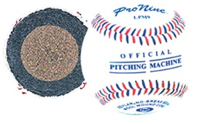 Pro Nine LPM9 Leather Pitching Machine Balls - Dozen