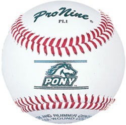 Pro Nine PL1 Pony League Official Game Baseballs - Dozen