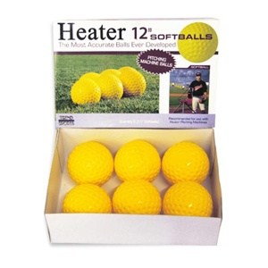 Heater Dimpled Yellow Softballs - Dozen