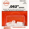 MOLEX KIT    .062 2 CIR; 1625-2PRT