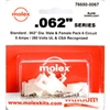 MOLEX KIT    .062 6 CIR; 1625-6PRT
