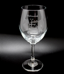 Multnomah Falls Etched Wine Glass