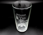 Multnomah Falls Etched Pub Glass