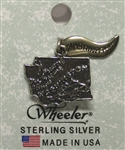 Washington State Sterling Silver Charm
