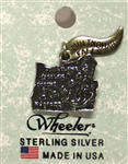 Oregon Sterling Silver Charm