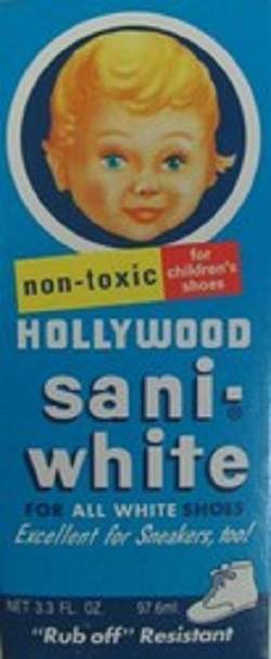 Hollywood Sani-White shoe Polish - 3 Oz.