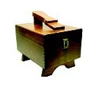Shoe shine box (With Feet), empty