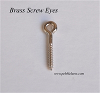Brass Screw Eyes - Nickel Plated