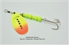 Pebble Belle Spinner | Chartreuse with Orange Flame Tip
