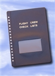 Flight Crew Check Lists Binders COVER ONLY (BLUE) - standard