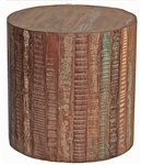 Colton Drum End Table