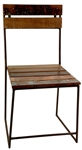 Colton Iron Wood Slat Chair