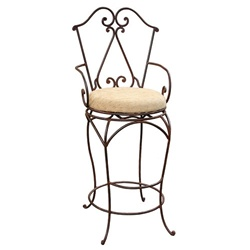 Iron Chair with Fabric Barstool