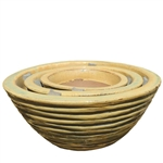 Ribbed Planter Bowls - Yellow