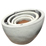 Slanted Planter Bowls - White