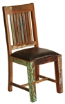 Montana Leather Wood Chair