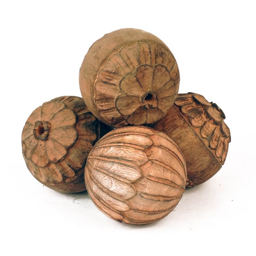 Decorative Carved Wood Balls