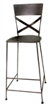 Bradley Silver Bar Stool