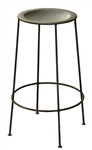 Bradley Zinc Backless Barstool