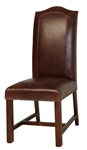 Aston Chair Leather w/ Brass Nail