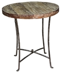 Bradley Iron Wood Round End Table