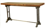 Hudson Iron/Wood Console Table