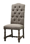 Aston Chair Linen Tufted Brown