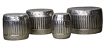 Iron Drum Table Set of 4