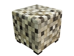Patch Grey Cowhide Cube
