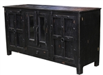 Monroe Wood 4 Door 1 Drawer Cabinet w/ Glass