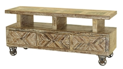 Monroe 3 Drawer Plasma Stand Chevron Design