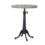 Round White Wash Bistro Table