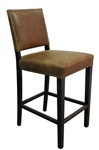 Bronx Brown Leather Barstool