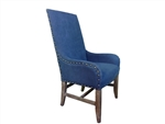 Blue Denim Arm Chair