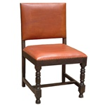 Wood Chair with Leather Seat