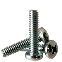 Phillips Pan Head Screws zinc