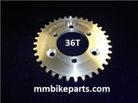 Authentic Manic Mechanic 36T sprocket with countersink holes