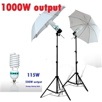 NEW Studio Translucent Umbrella 1000W Light Continuous Video Lighting Kit