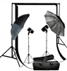 PHOTO STUDIO 300W FLASH STROBE LIGHTING SOFTBOX UMBRELLA BACKDROPS KIT