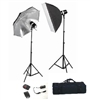 NEW 2 HEAD COMPLETE STROBE STUDIO FLASH MONOLIGHT KIT UMBRELLA SOFTBOX SET