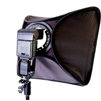 "Pro 24""x 24"" HOTSHOE SOFTBOX BRACKET 4 SPEEDLIGHT KIT"
