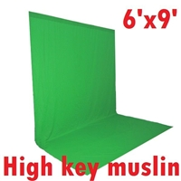 NEW High Key Muslin Chromakey Green 6' x 9' Background