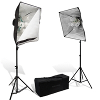 3000 W Video Photo Studio Fluorcent lighting Softbox light + Case