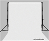 Studio WHITE 10'x20' Muslin Backdrop Stand Support Kit