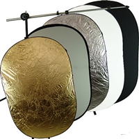 "Pro 8ft Heavy duty stand 5 in 1 40"" X 60"" OVAL Reflectors arm stand Studio kit"