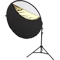 "NEW 22"" 5 in 1 Reflector + Arm Holder bracket Heavy Duty 8' Stand Kit"
