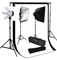 Photo Softbox 2000 W Video Continuous softbox lighting kit white black backdrops