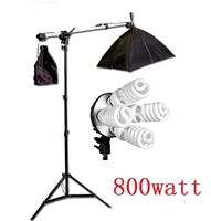 Pro Photo Studio Softbox Continuous 800W Lighting Boom Arm Video Light Set
