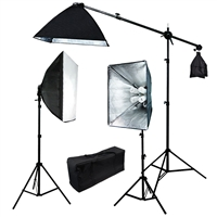 NEW 2400 W Video Photo Studio Boom stand lighting Softbox light + Case
